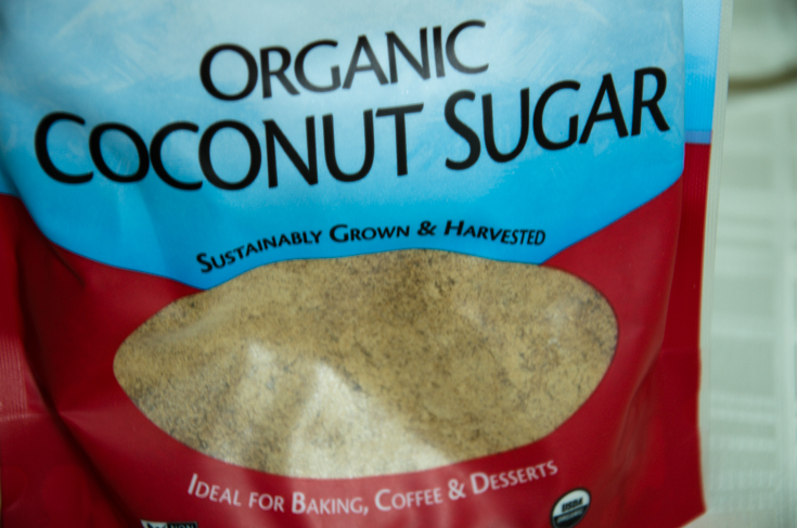 Coconut sugar contains more nutrients than regular white sugar and has a lower glycemic index. Used in moderation it can be a great alternative for baking.