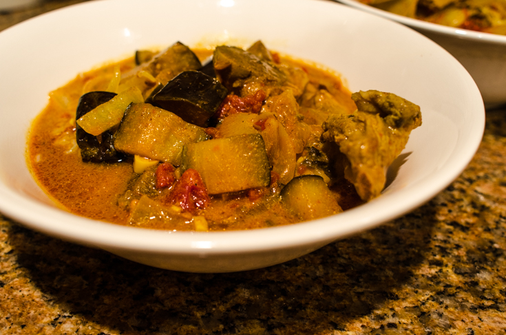 lamb and eggplant curry